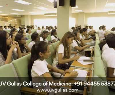 uv gullas college of medicine class room & student are listening to a lecture