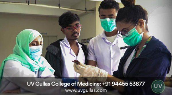 uv gullas students in anatomy lab